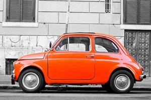 Orange-Fiat-500