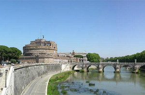Panorama-Of-Castel-Sant'angelo-In-Rome