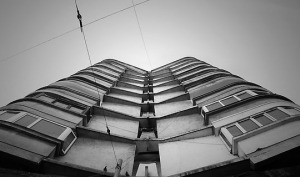 black-and-white-block-of-flats