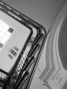 black-and-white-interior-stairs
