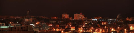 Night panorama of Copou hill in Iasi - Romania