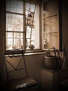 vintage-interior-with-a-wooden-framed-window