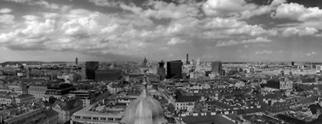 Viena-city-black and white panorama_HDR
